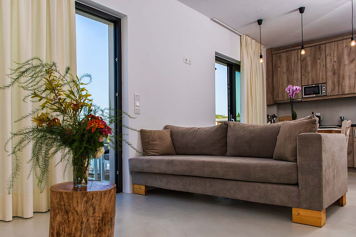 Living Room - Villas in Arillas Corfu